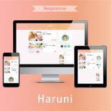 淡いグラデーションのテーマを使いたいなら「Haruni」がおすすめ!