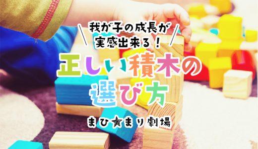 積み木は子供の成長に合った物を選ぼう!つみきの選び方と我が家のおすすめ3選
