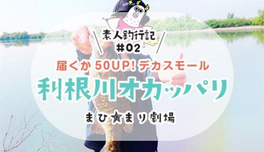 【バス釣り】素人釣行記#02 Bigスモール爆釣!【利根川オカッパリ】