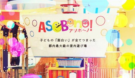休日は激混み!都内最大級の室内遊び場『アソボーノ!』で遊んだ2歳児の反応・レビュー