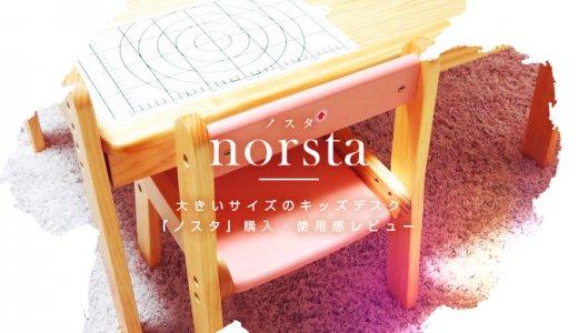兄妹でのびのびお絵描き!大きいサイズのキッズデスク『norsta(ノスタ)』特徴・使用感レビュー